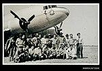 RAAF crew and migrants preparing to fly to Woomera (8404122216).jpg