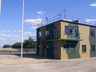 Clapham, Bedfordshire - RAF Twinwood Control Tower, restored in 2002