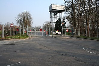 RAF Chicksands - An entrance to former RAF Chicksands