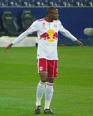 Rabiu Afolabi - Afolabi in a match against SV Kapfenberg.