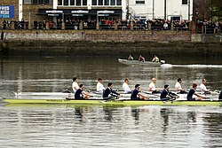 Race of reserve crews during the Boat Race in spring 2013 (4).JPG