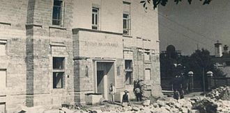 Radio Chișinău - Image: Radio Basarabia under construction in 1937