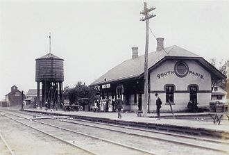 St. Lawrence and Atlantic Railroad - South Paris station built in 1888