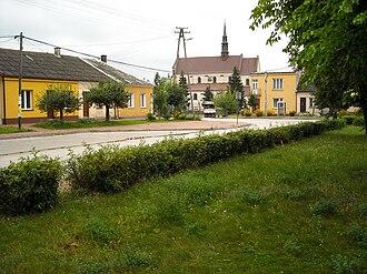 Raków, Kielce County - Image: Raków Plac Wolności