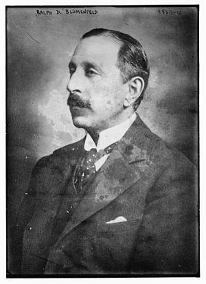 R. D. Blumenfeld - Image: Ralph David Blumenfeld in 1919