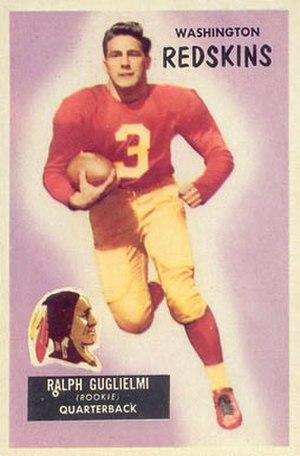 Ralph Guglielmi - Guglielmi on a 1955 Bowman football card