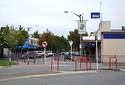 The east end of the main street of Rangiora