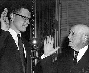John Dingell - Dingell sworn in by Speaker Sam Rayburn in 1955