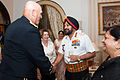 Raymond T. Odierno being greeted by Bikram Singh at the Indian Army Banquet.jpg