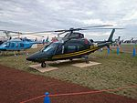 Raytheon Australia (VH-RUA) Agusta A109E on display at the 2015 Australian International Airshow 2.jpg