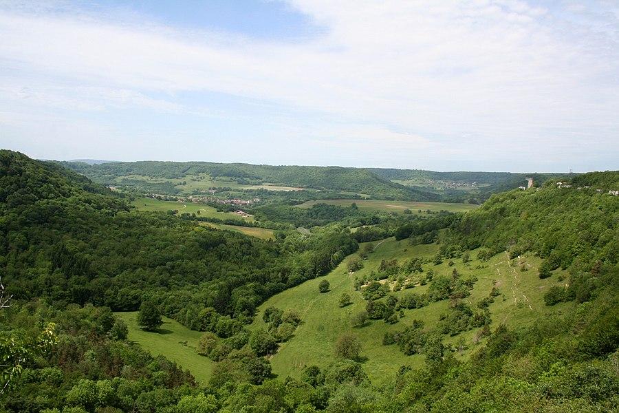 Vue de la reculée de Valbois à Chassagne-Saint-Denis (Doubs)