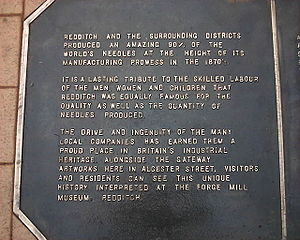Redditch - Commemorative pavement plaque in Alcester Street
