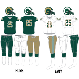 Regina Rams football uniform since 2014.png