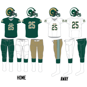 Regina Rams - Image: Regina Rams football uniform since 2014