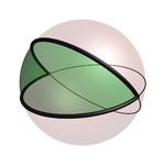 Regular digon in spherical geometry