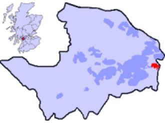 Ralston, Renfrewshire - The location of Ralston in Renfrewshire, and Scotland.