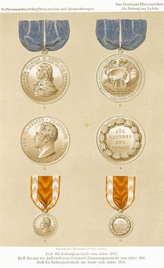 Lifesaving Medal (Prussia) - Versions of the Kingdom of Prussia's Lifesaving Medals