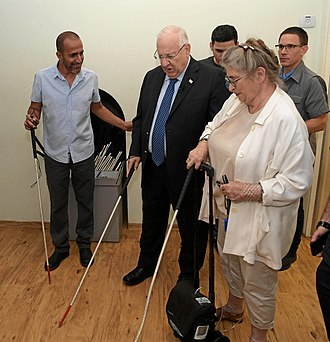 Dialogue in the Dark - Reuven Rivlin, President of Israel and his wife, Nechama Rivlin, in a visit in Dialogue in the Dark exhibition in Holon to mark the day of blindness, June 2018