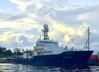RV Roger Revelle (AGOR-24) - Roger Revelle, berthed in Palau in 2016