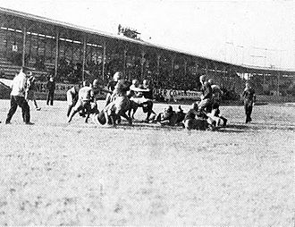 West End Park (Houston) - The Rice Owls playing football at West End Park in 1915