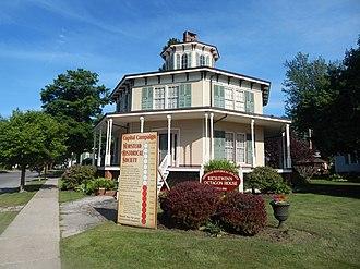 Akron, New York - Rich-Twinn House in June 2015, during restoration