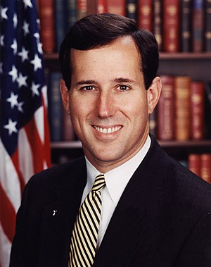 Anti-evolution legislation - Senator Rick Santorum, sponsor of the Santorum Amendment