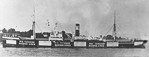 German submarine U-202 - Argentine merchant ship Rio Tercero, sunk by the U-202