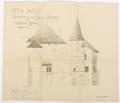 Ritning schloss Hallwyl, 1912. Norra fasaden - Hallwylska museet - 102196.tif