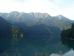 Lake Ritsa - Mountains surrounding the lake