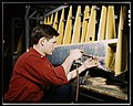Riveter at work at the Douglas Aircraft Corporation plant in Long Beach, Calif. LOC 2179136411.jpg
