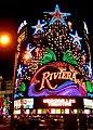 Riviera Hotel and Casino, Las Vegas, Facade by night.jpg