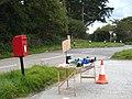 Roadside produce stall at Allet - geograph.org.uk - 1527178.jpg