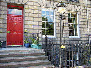 Robert Louis Stevenson -  Stevenson's childhood home in Heriot Row