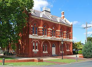 Rochester, Victoria - Image: Rochester Shire Hall 001