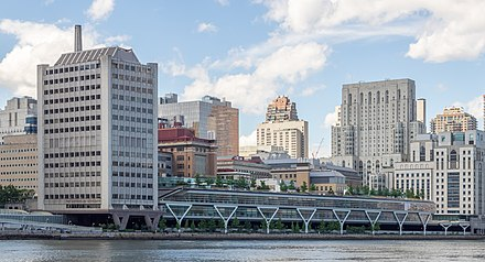 Campus as seen from Roosevelt Island (2019) Rockefeller University (48064098757).jpg
