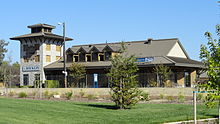 Rocklin, California - Amtrak station and Chamber of Commerce building.jpg