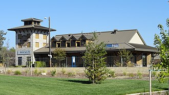 Rocklin, California - Amtrak station and Chamber of Commerce, Rocklin