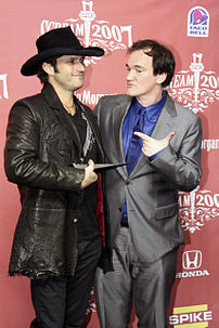 American film directors Robert Rodriguez and Quentin Tarantino. Taken at the 2007 Scream Awards
