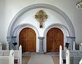 Roe Kirke Bornholm Denmark interior entrance.jpg