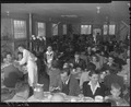 Rohwer Relocation Center, McGehee, Arkansas. The Thanksgiving day dinner at the staff mess-hall. - NARA - 538985.tif