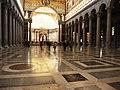 Roma, Basilica di San Paolo Fuori le Mura, interno (3).jpg