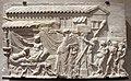 Roma, lastra con poeta drammatico che riceve dioniso, detto 'festino di icarios', II sec dc..JPG
