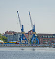Rostock Stadthafen TAKRAF-Kräne.jpg