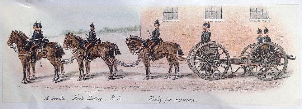 Royal Artillery, 16 Pounder, 1880
