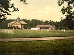 Royal Military College cricket grounds, Sandhurst, Camberley, Surrey, England, ca. 1895