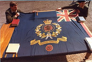 Royal Monmouthshire Royal Engineers - Colours of the Royal Monmouthshire Royal Engineers