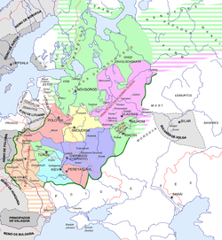 Rus' principalities in 1237, Kiev in light blue