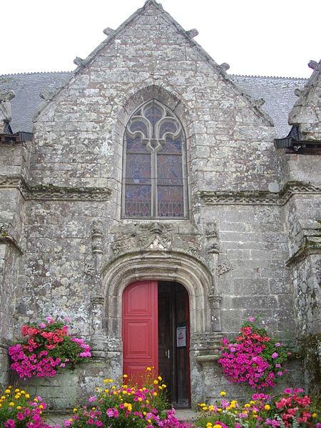 Saint Peter church of Sérent (Morbihan, France). Northern porch