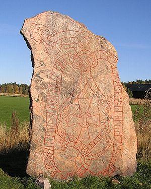 Södermanland Runic Inscription 109 - Runestone Sö 109 in Gredby, Sweden.