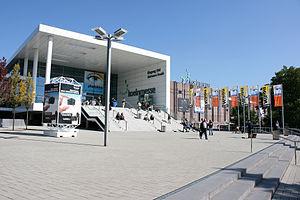 Photokina - South Entrance of the Cologne Trade Fair during photokina 2008.